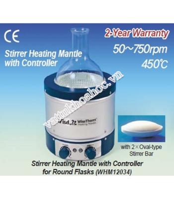 Bếp đun bình cầu đến 450 độ C có khuấy từ
