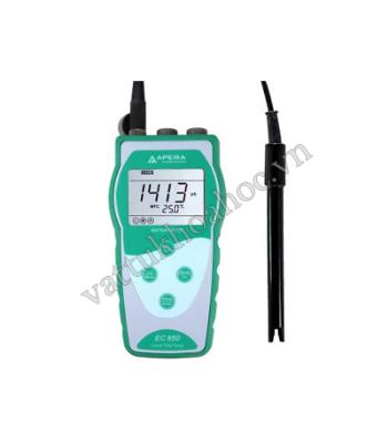 Máy đo độ dẫn EC/TDS/độ mặn/nhiệt độ cầm tay APERA EC850