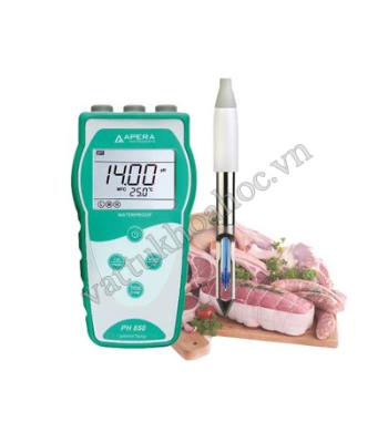 Máy đo pH/mV/nhiệt độ chuyên dụng đo trong thịt, cá và các loại thực phẩm APERA pH850-BS