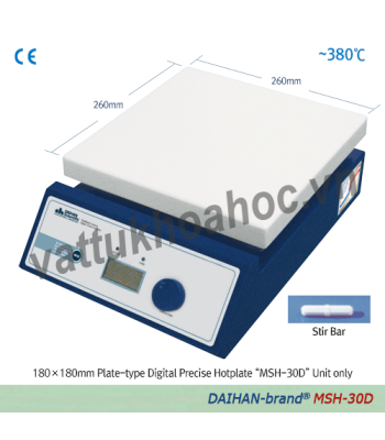 Máy khuấy từ gia nhiệt hiện số 380oC, 230x230mm Daihan MSH-30D