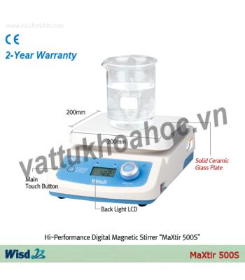 Máy khuấy từ gia nhiệt hiện số 500oC, 200x200mm Daihan MSH500