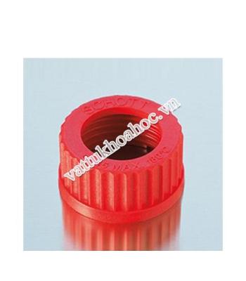 Nắp vặn có lỗ nhựa PBT màu đỏ DURAN
