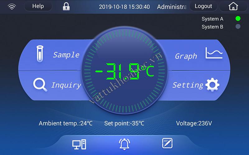Tủ âm sâu -86oC 728 lít màn hình cảm ứng dòng TwinCool hai hệ thống lạnh cải tiến